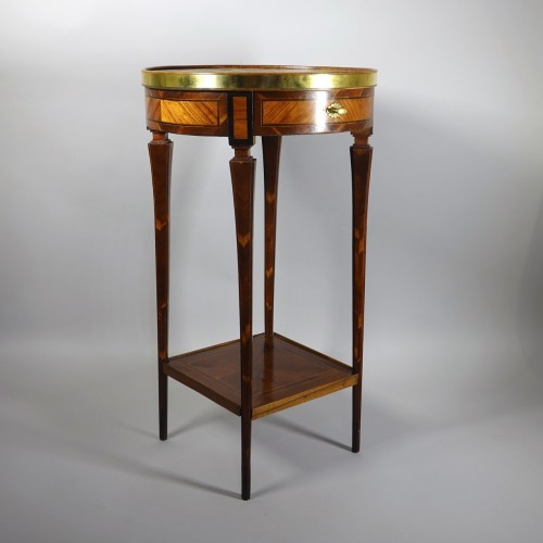 Furniture  - Round table probably made in Strasbourg circa 1780
