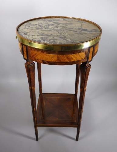 18th century - Round table probably made in Strasbourg circa 1780