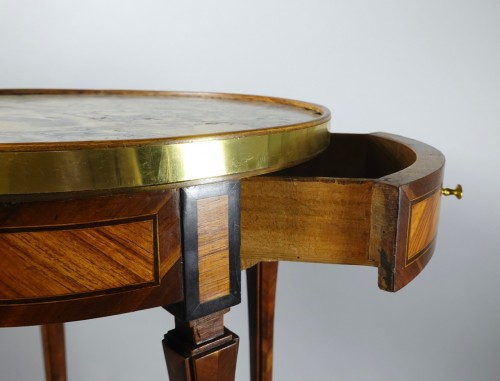 Louis XVI - Round table probably made in Strasbourg circa 1780