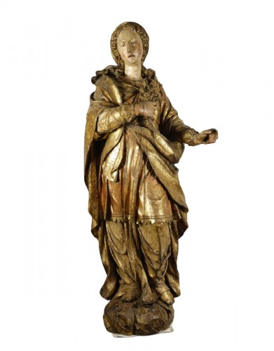 Tall polychrome statue
