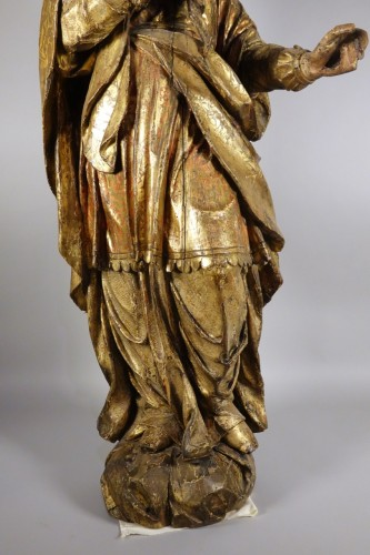 Sculpture  - Tall polychrome statue