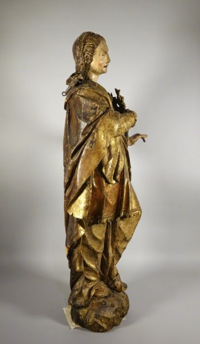 Tall polychrome statue -