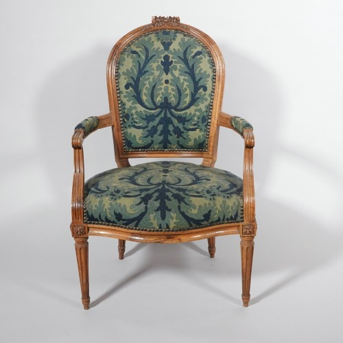 Set of six Louis XVI armchairs - Seating Style Louis XVI
