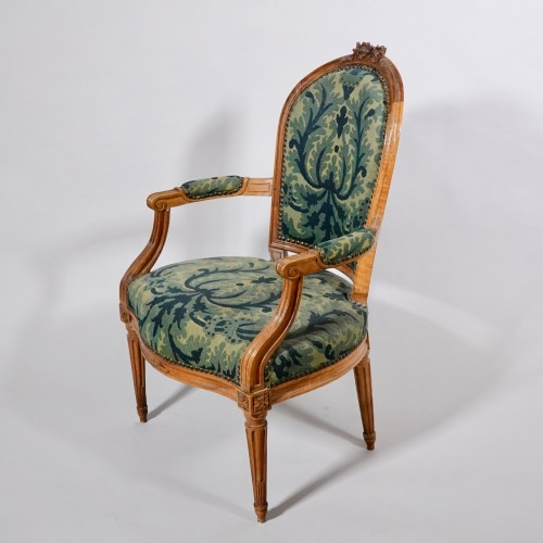 Seating  - Set of six Louis XVI armchairs