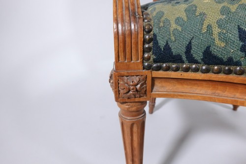 Louis XVI - Set of six Louis XVI armchairs