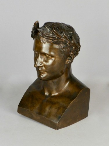 Bronze Napoleon bust, circa 1850 - Sculpture Style Napoléon III