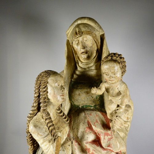 Sculpture  - The Virgin and Child with Saint Anne, circle of Hans Wydyz