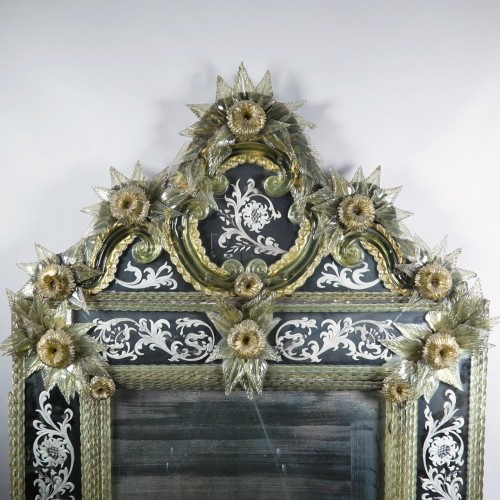 Looking glass, Murano, Venise - Mirrors, Trumeau Style Napoléon III