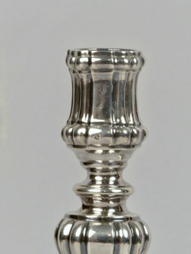 Antique Silver  - Pair of silver candlesticks, Orléans 1770-1772