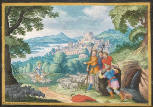 Old Testament Miniature by Friedrich Brentel (1580-1651)