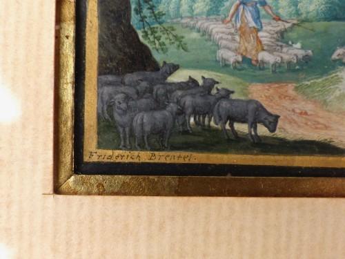 17th century - Old Testament Miniature by Friedrich Brentel (1580-1651)