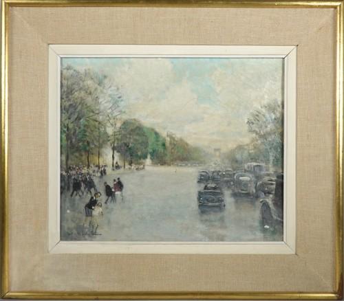 Jules René Hervé (1887-1981) - Paris, The avenue des Champs Elysées