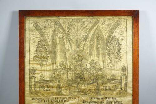 Firework in honor of Maria Josepha of Saxony - Engravings & Prints Style Louis XV