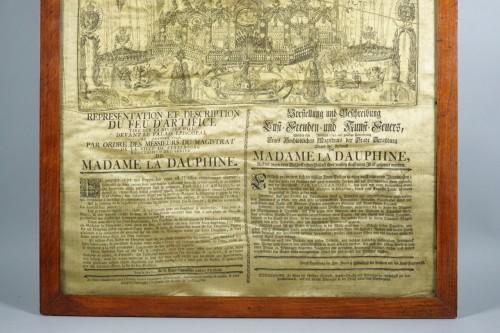 Engravings & Prints  - Firework in honor of Maria Josepha of Saxony