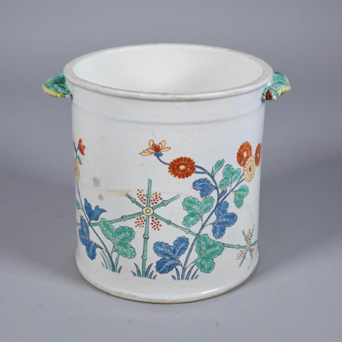 Cooling bucket in soft paste porcelain of Chantilly - Porcelain & Faience Style
