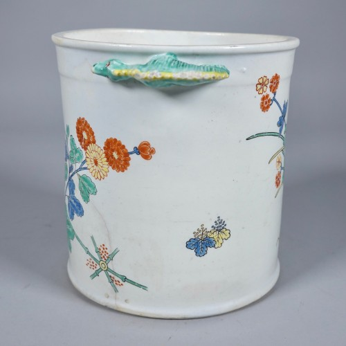 18th century - Cooling bucket in soft paste porcelain of Chantilly