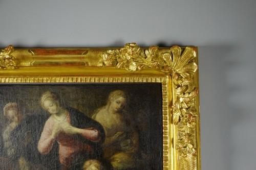 17th century - Saint Dominic de Guzmán receiving the Rosary from the Virgin
