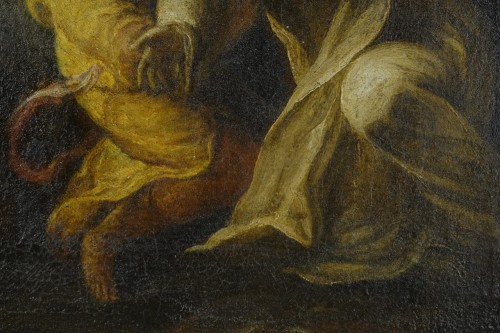 Saint Dominic de Guzmán receiving the Rosary from the Virgin -