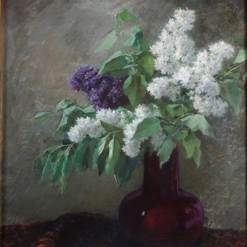Bouquet of lilacs, Lothaire von Seebach - Paintings & Drawings Style