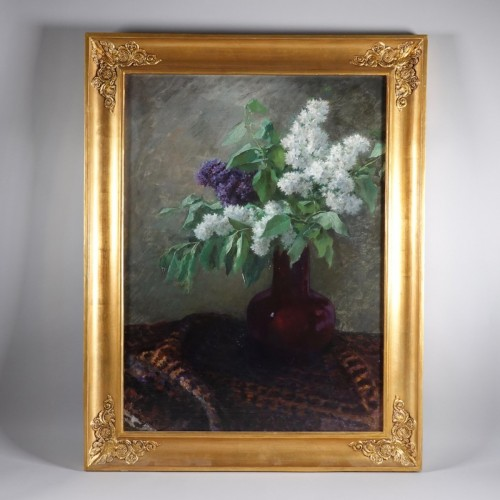 19th century - Bouquet of lilacs, Lothaire von Seebach