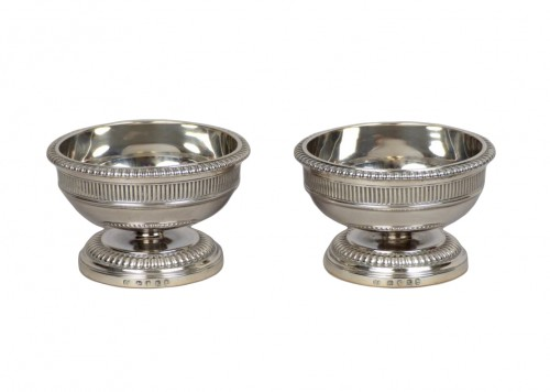 Pair of silver salt cellars, Paul Storr London 1805