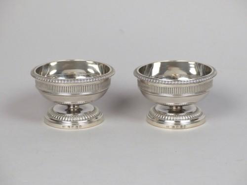 Pair of silver salt cellars, Paul Storr London 1805 - Empire