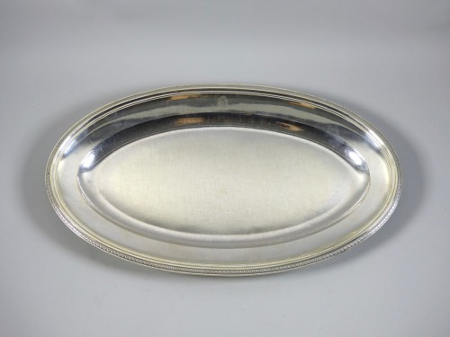 Silver fish platter - Antique Silver Style Restauration - Charles X