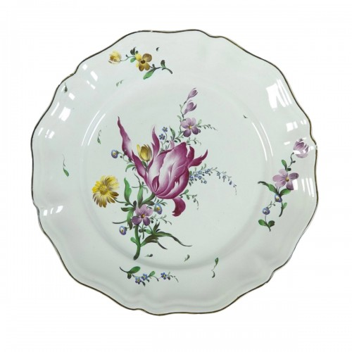 Strasbourg faience plate, Joseph Hannong 18th