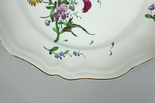 18th century - Strasbourg faience plate, Joseph Hannong 18th