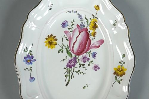 Strasbourg faience platter, Joseph Hannong 18th - Porcelain & Faience Style