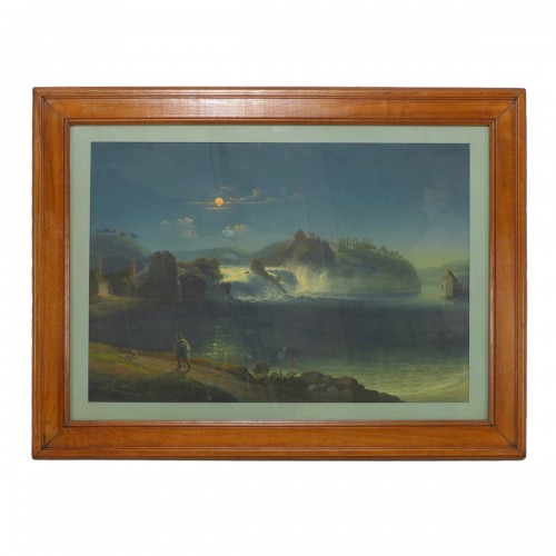 Rhine Falls in the moonlight, circa 1830