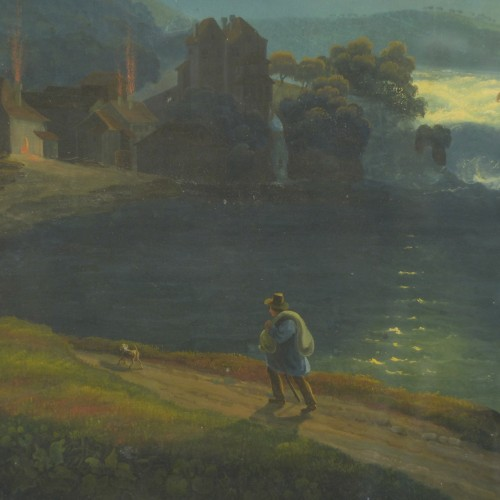 Paintings & Drawings  - Rhine Falls in the moonlight, circa 1830