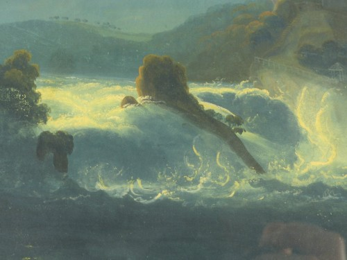Rhine Falls in the moonlight, circa 1830 -