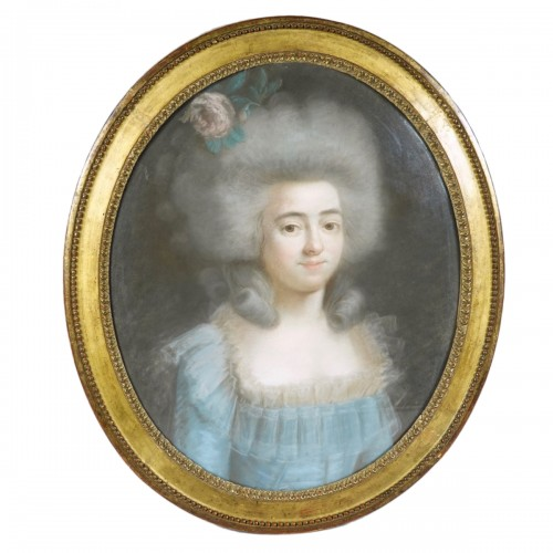 Female portrait, pastel circa 1780
