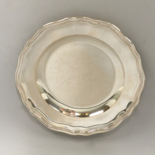 18th century - Five Berlin silver plates, mid 18th century