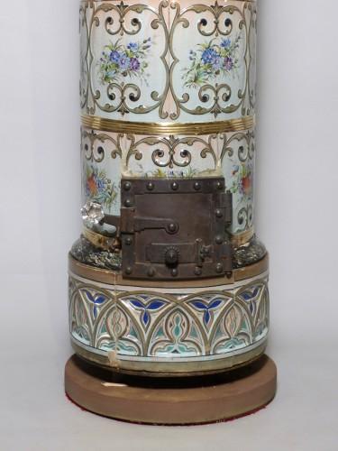 Porcelain & Faience  - Faience burning stove, Strasbourg circa 1850
