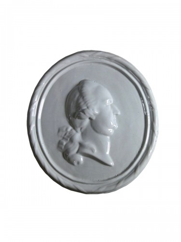 Faience medallion-portrait, Mosbach circa 1775