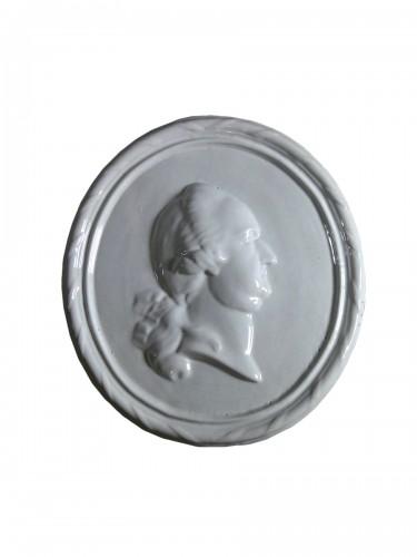 Faience medallion-portrait, Mosbach circa 1775