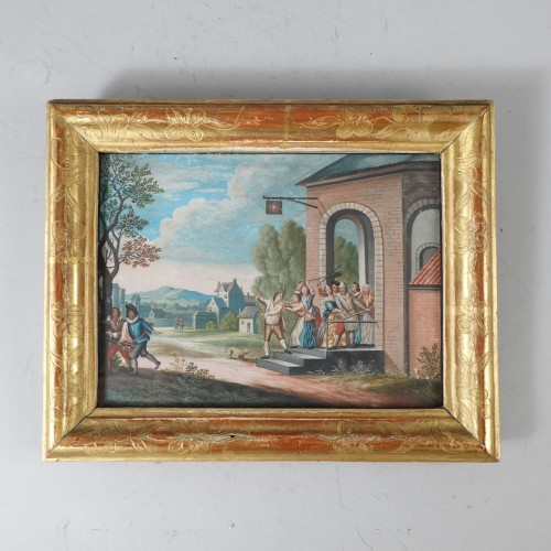 Parable of the Prodigal Son, gouaches 18th century - Paintings & Drawings Style Louis XV