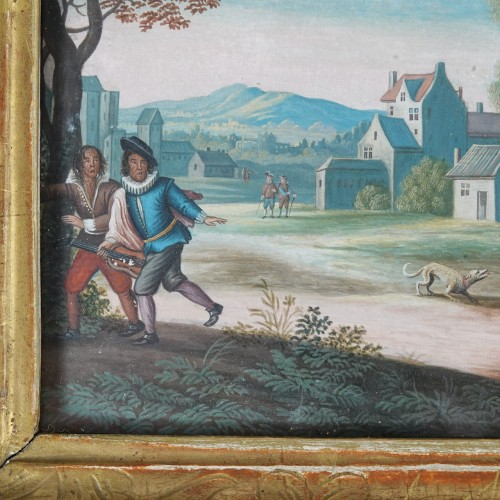 Paintings & Drawings  - Parable of the Prodigal Son, gouaches 18th century