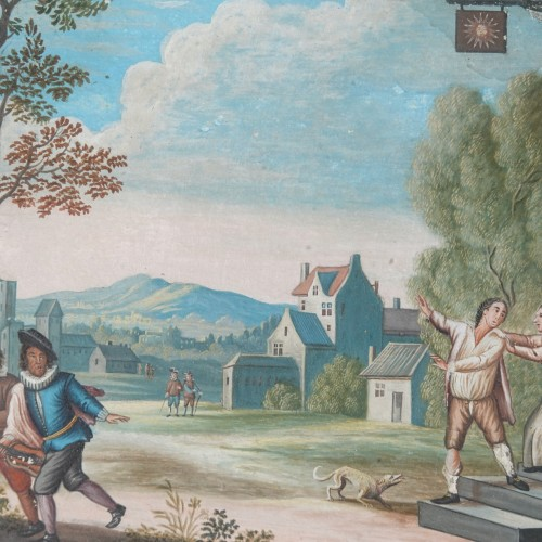 18th century - Parable of the Prodigal Son, gouaches 18th century