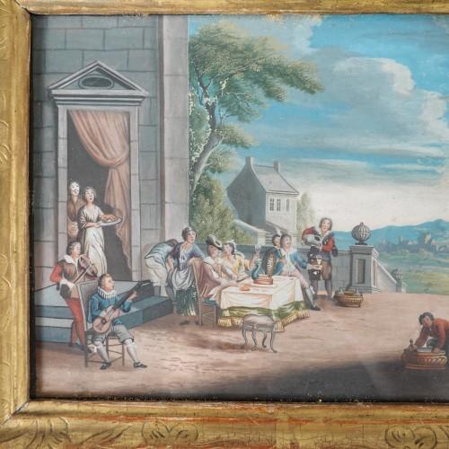 Antiquités - Parable of the Prodigal Son, gouaches 18th century