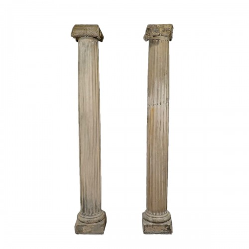 Pair of column in sandstone