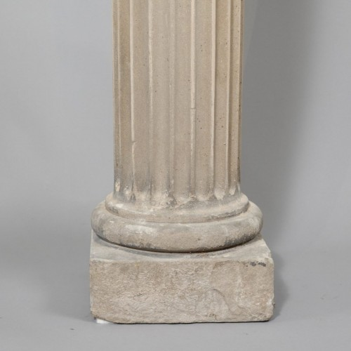 Pair of column in sandstone -