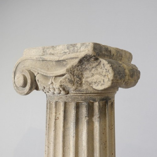 - Pair of column in sandstone