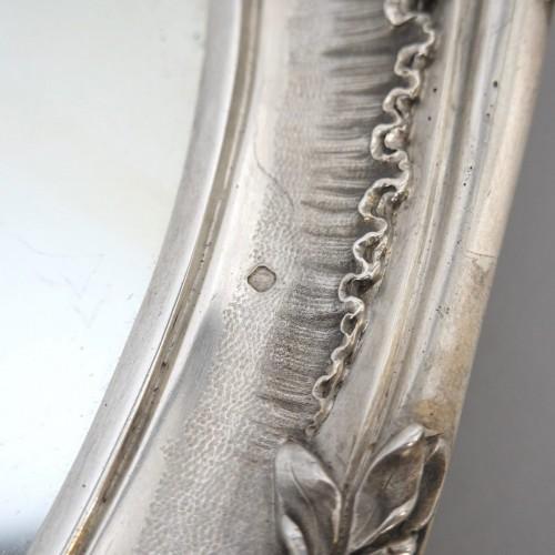 Antique Silver  - Silver surtout de table with mirror