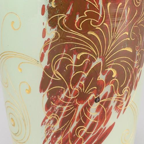 Art nouveau - Jade coloured vase, Emile Gallé, Nancy