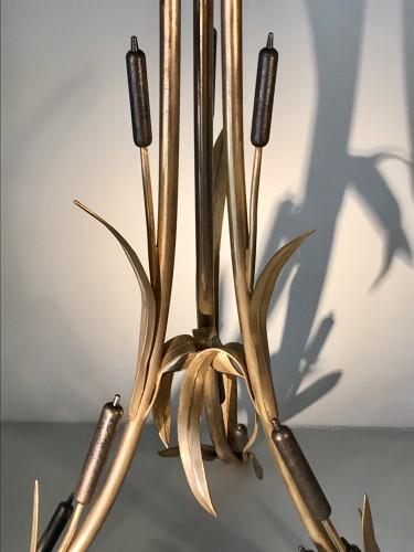 Napoléon III - Pedestal table with reed decor