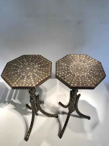 Pair of Ottoman side tables - Furniture Style Napoléon III