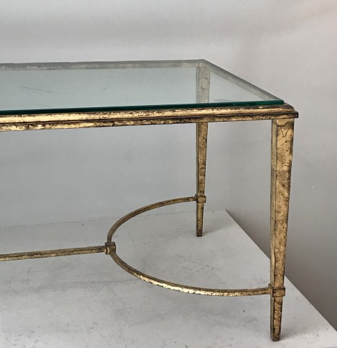 Coffee table in gilded wrought iron - Furniture Style 50